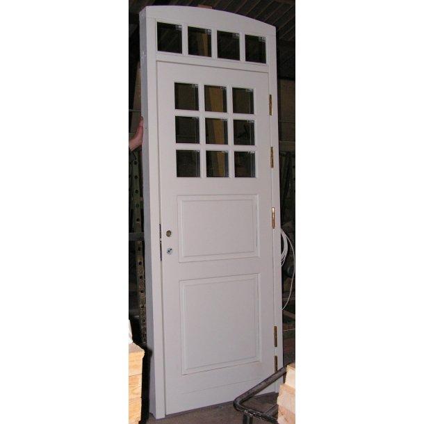 Facade Dør med integreret overparti.